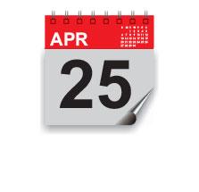 25 April 2014
